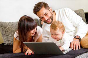 Mütter und Väter Nebenjobs
